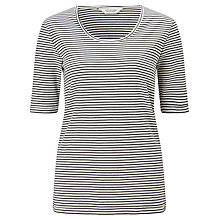 Buy Maison Scotch Stripe T-Shirt, Black/White Online at johnlewis.com