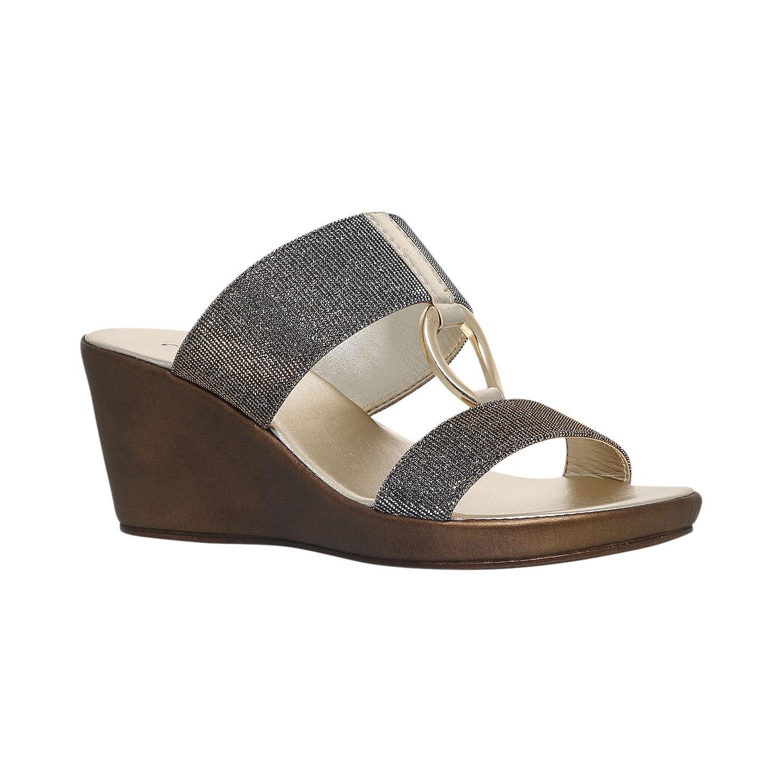 Metal comb CARVELA COMFORT Salt metallic wedge sandals