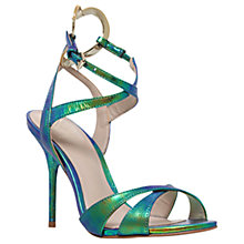 Buy KG by Kurt Geiger Jina Multi Strap Stiletto Sandals, Green Online at johnlewis.com