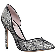 Buy Carvela Glee Occasion Asymmetric Court Shoes, Black Online at johnlewis.com