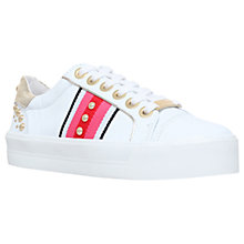 Buy Carvela Lax Flatform Trainers, White Online at johnlewis.com