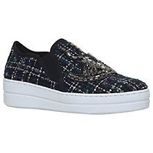 Buy Kurt Geiger Lamont Slip On Flatform Trainers, Navy Online at johnlewis.com