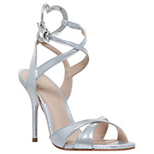 Buy KG by Kurt Geiger Jina Multi Strap Stiletto Sandals, Silver Online at johnlewis.com
