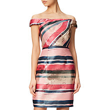 Buy Adrianna Papell Off Shoulder Dress, Multi Online at johnlewis.com