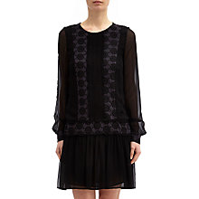 Buy Ghost June Dress, Black Online at johnlewis.com