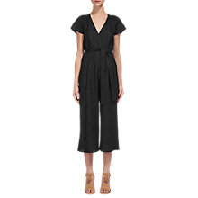 Buy Whistles Etta Wrap Jumpsuit, Black Online at johnlewis.com