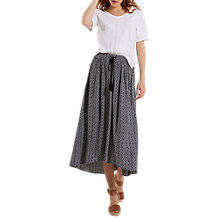 Buy White Stuff Waterfall Printed Maxi Skirt, Black Online at johnlewis.com