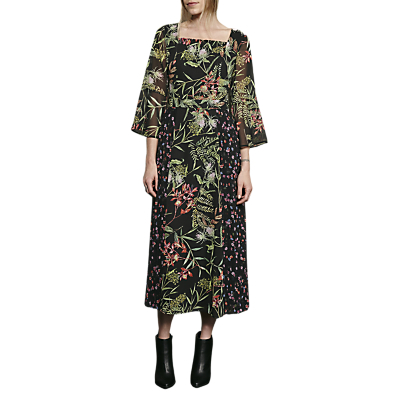 Product photo of French connection bluhm botero sheer maxi dress black multi
