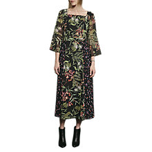 Buy French Connection Bluhm Botero Sheer Maxi Dress, Black/Multi Online at johnlewis.com