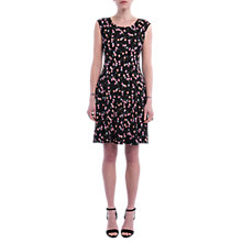 Buy French Connection Botero Ponte Flared Dress, Black/Multi Online at johnlewis.com