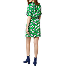 Buy Warehouse Floating Floral Dress, Green Online at johnlewis.com