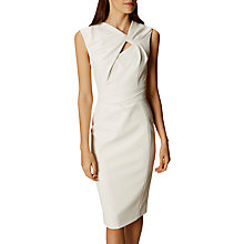 Buy Karen Millen Knot And Drape Pencil Dress, Ivory Online at johnlewis.com