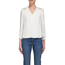 Buy Whistles Elodie Lace Top, Ivory Online at johnlewis.com