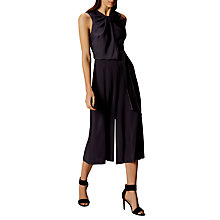 Buy Karen Millen Knot Detail Draped Jumpsuit, Navy Online at johnlewis.com