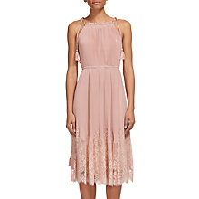 Buy Whistles Lilian Pleated Dress, Pale Pink Online at johnlewis.com