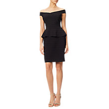 Buy Adrianna Papell Off The Shoulder Banded Peplum Dress, Black Online at johnlewis.com