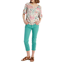 Buy White Stuff Straight Cropped Jeans, Pot Paint Green Online at johnlewis.com