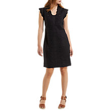 Buy White Stuff Livia Linen Dress, Black Online at johnlewis.com