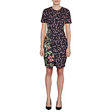 Buy French Connection Bluhm Botero Mix Dress, Black/Multi Online at johnlewis.com