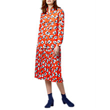 Buy Warehouse Floating Floral Blouse, Orange Online at johnlewis.com