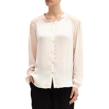 Buy Ghost Sybil Blouse, Pale Pink Online at johnlewis.com