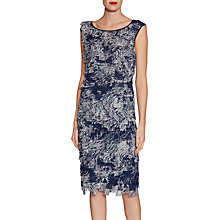 Buy Gina Bacconi Fringe Chiffon Top, Navy Online at johnlewis.com