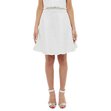 Buy Ted Baker Frayed Boucle Mini Skirt, Ivory Online at johnlewis.com