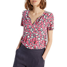 Buy White Stuff Victoria Frill Jersey T-Shirt, Multi Online at johnlewis.com