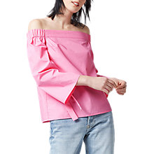 Buy Warehouse Tie Sleeve Bardot Top Online at johnlewis.com