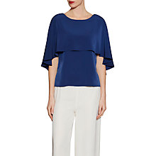 Buy Gina Bacconi Soho Crepe Cape Detail Top Online at johnlewis.com