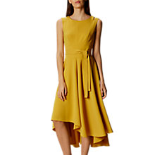 Buy Karen Millen Asymmetric Hem Sleeveless Midi Dress, Yellow Online at johnlewis.com