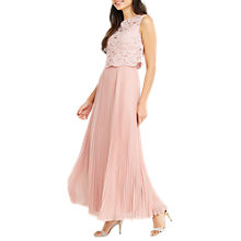 Buy Oasis 2 in 1 Lace Bodice Maxi Dress, Dusty Pink Online at johnlewis.com