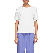 Buy Whistles Seam Detail Cotton T-Shirt, White Online at johnlewis.com