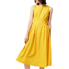Buy Warehouse Open Back Cotton Dress, Yellow Online at johnlewis.com