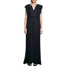 Buy French Connection Sophie Sheer Tie Waste Maxi Dress, Utility Blue Online at johnlewis.com
