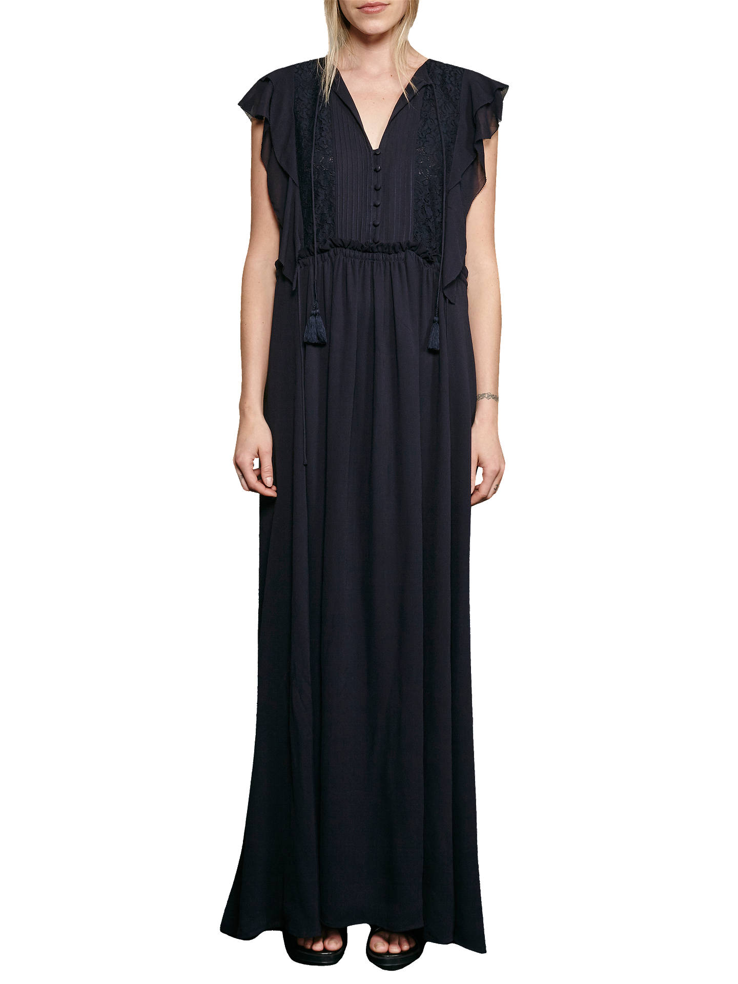 8892a047b90 Buy French Connection Sophie Sheer Tie Waste Maxi Dress
