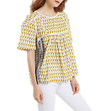Buy White Stuff Perch Top, Tourmaline Yellow Print Online at johnlewis.com