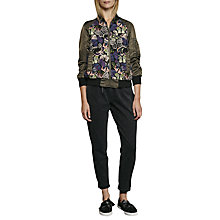 Buy French Connection Rivera Floral Embroidered Bomber Jacket, Woodland Green/Multi Online at johnlewis.com