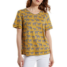 Buy White Stuff Equi Printed Jersey T-Shirt, Tourmaline Online at johnlewis.com