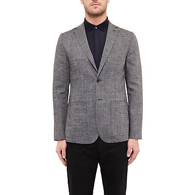 Ted Baker Grid Cross Hatch Linen-Blend Tailored Blazer