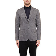 Buy Ted Baker Grid Cross Hatch Linen-Blend Tailored Blazer Online at johnlewis.com