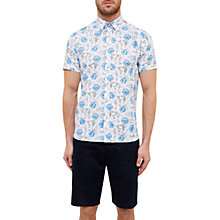 Buy Ted Baker Jorge Floral Short Sleeve Cotton Shirt Online at johnlewis.com