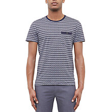 Buy Ted Baker Pasta Geo Print Cotton Polo Shirt Online at johnlewis.com
