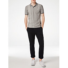 Buy Fred Perry Vertical Stripe Pique Polo Shirt, Steel Marl Online at johnlewis.com