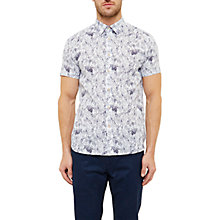 Buy Ted Baker Loyal Leaf Pattern Shirt Online at johnlewis.com