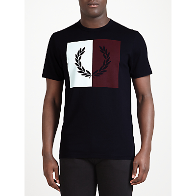 Fred Perry Split Laurel Wreath Graphic T-Shirt, Navy