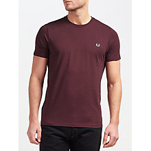 Buy Fred Perry Plain Crew Neck T-Shirt Online at johnlewis.com