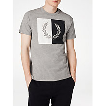 Buy Fred Perry Split Laurel Steel Graphic T-Shirt, Steel Marl Online at johnlewis.com