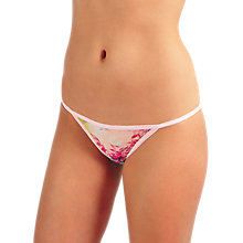 Buy Calvin Klein Underwear Sheer Marquisette Transparent Floral Bikini Briefs, Multi Online at johnlewis.com