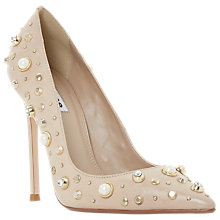 Buy Dune Bertta Pearl Stud Court Shoes, Nude Online at johnlewis.com
